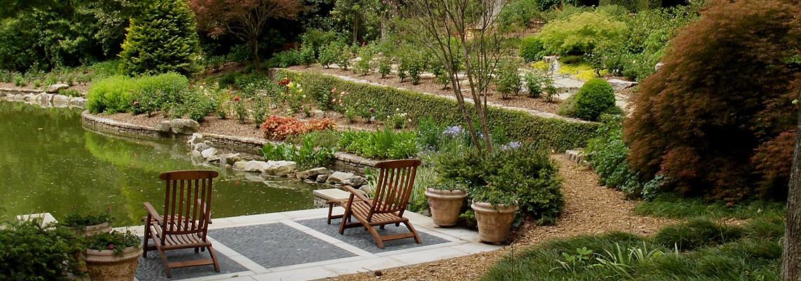 Portfolio-Rear-Estate-Garden-with-Lake-and-Greenhouse-Garden-Architects-Inc