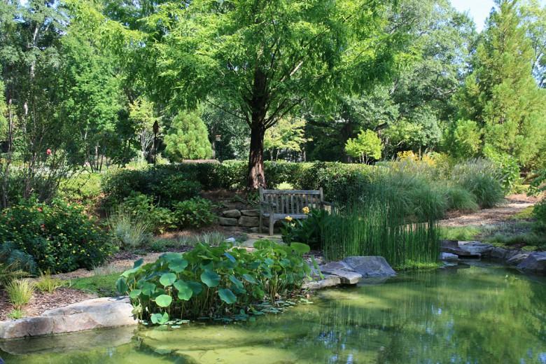 Garden Bench in Shade Garden, Garden Architects, Inc.
