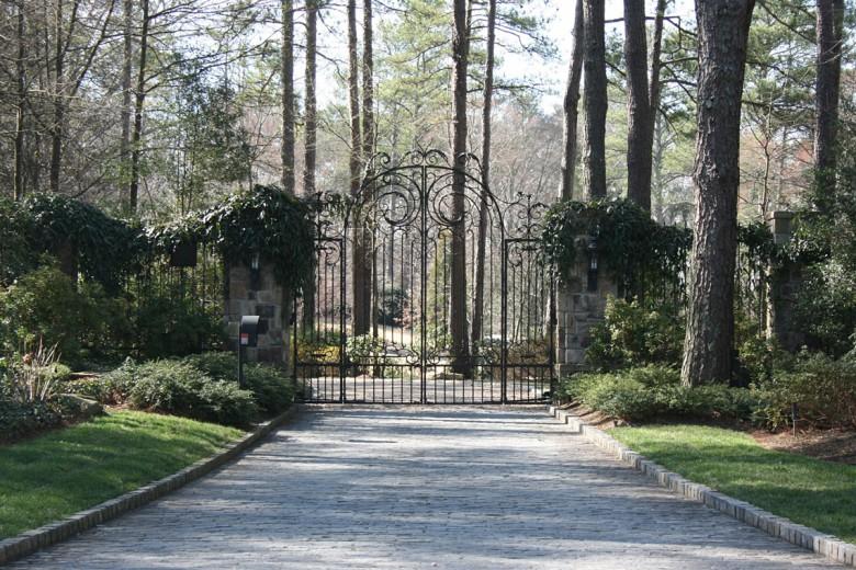 Custom Iron Gates at Formal Buckhead Estate, Garden Architects, Inc.