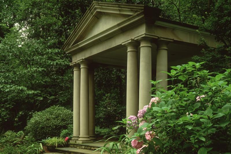 Limestone Pavillion in Estate Garden, Garden Architects, Inc.