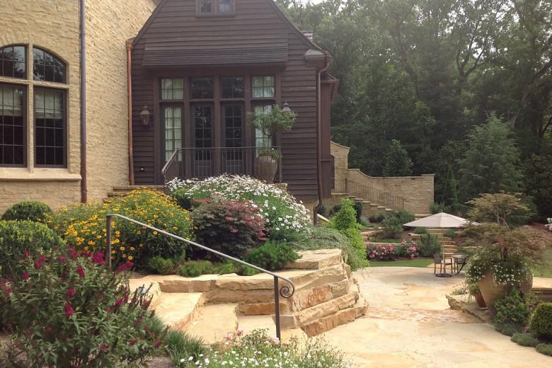 Rear Garden Steps to Pool Terrace, Garden Architects, Inc.