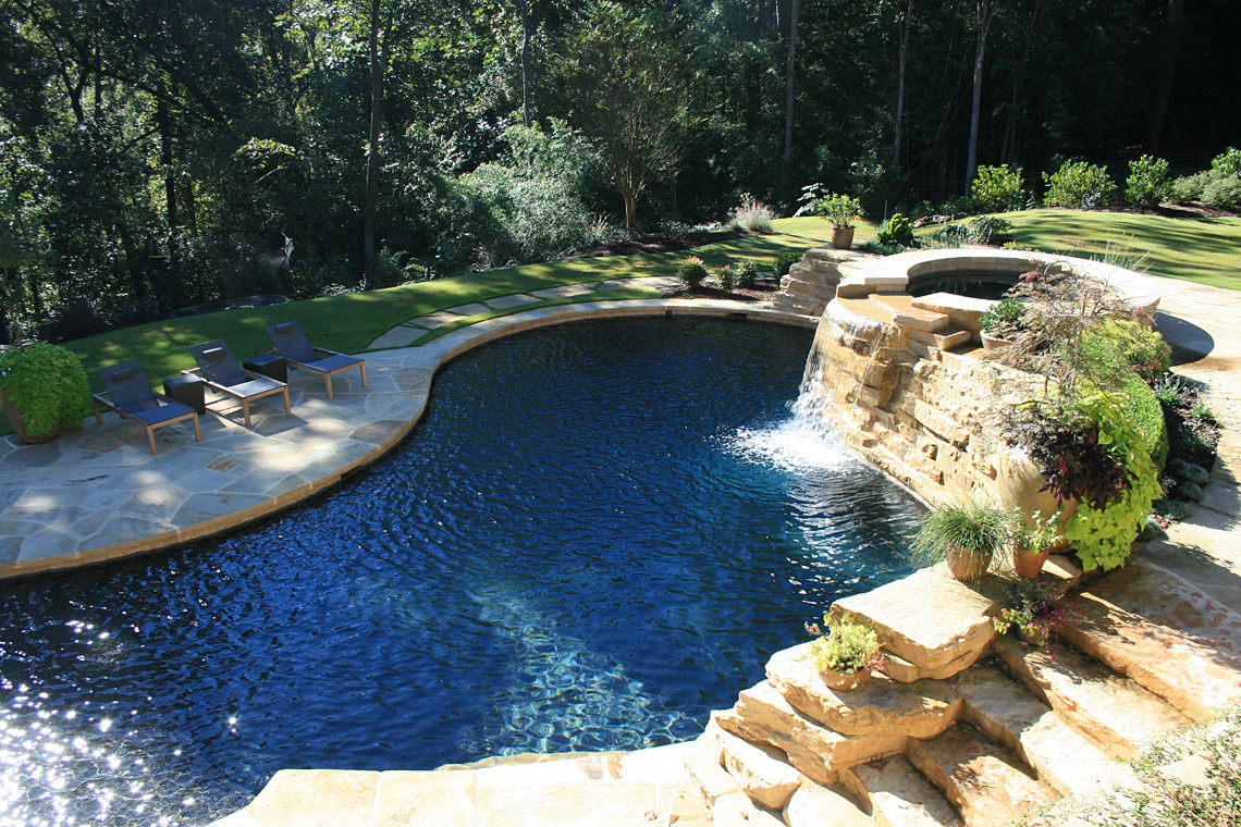 Before after garden architects for Pool pool pool