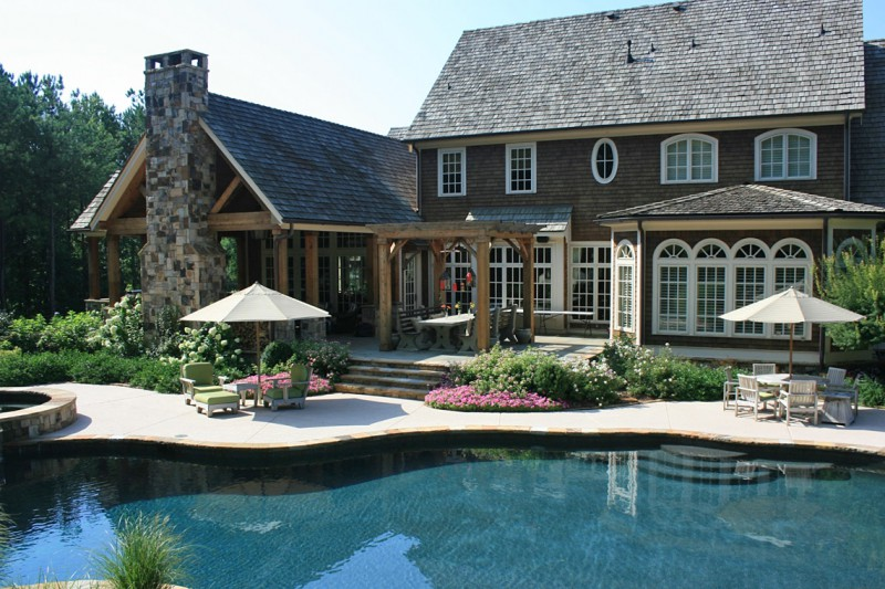 Loggia Pergola and Swimming Pool, Garden Architects, Inc.