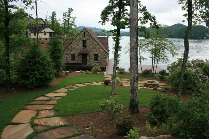 Stone Path to Mountain Lake, Garden Architects, Inc.