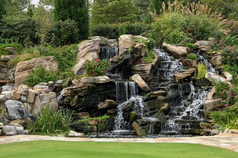 Boulder Waterfalls and Koi Pond, Garden Architects, Inc.